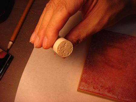 手彫り工程5